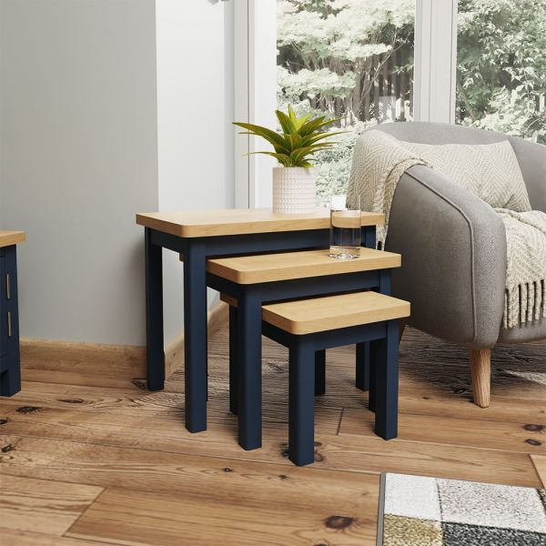 Astar Nest Of 3 Tables  - Blue