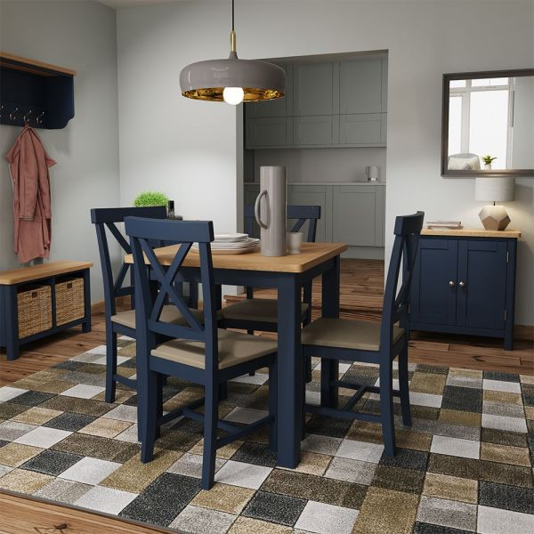 Astar Fixed Top Dining Table - Blue