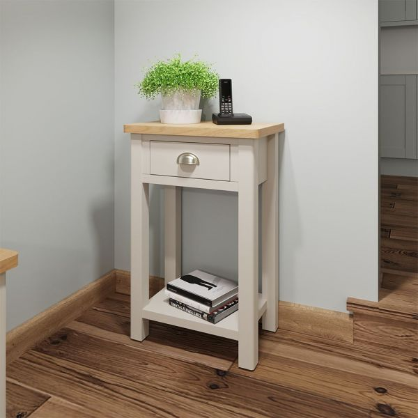 Ether Telephone Table - Dove Grey