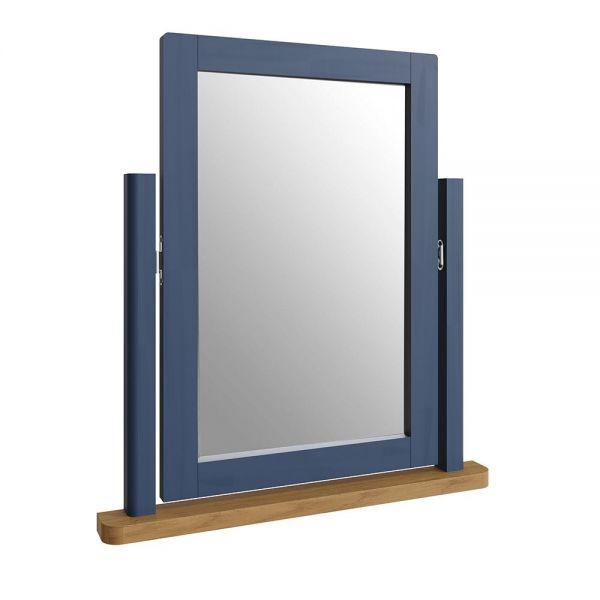 Alcia Trinket Mirror - Blue
