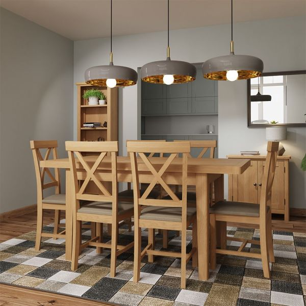 Herman 1.2M Extending Dining Table- Rustic Oak