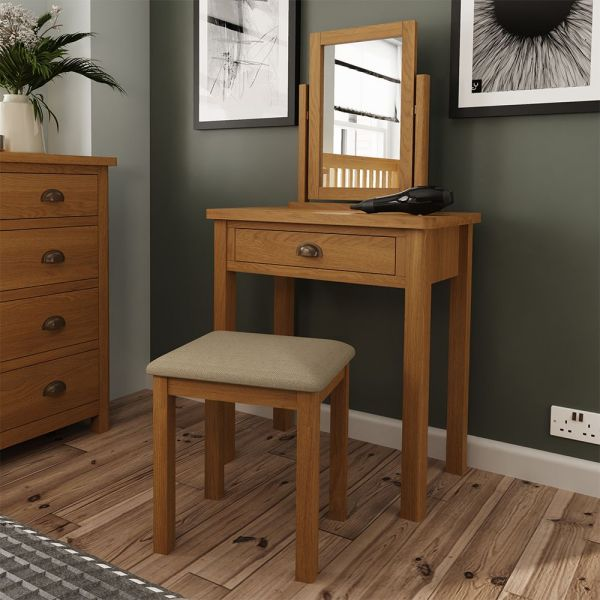 Cardano Dressing Table - Rustic Oak