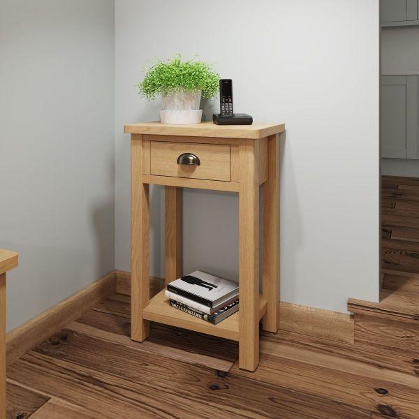 Herman Telephone Table - Rustic Oak