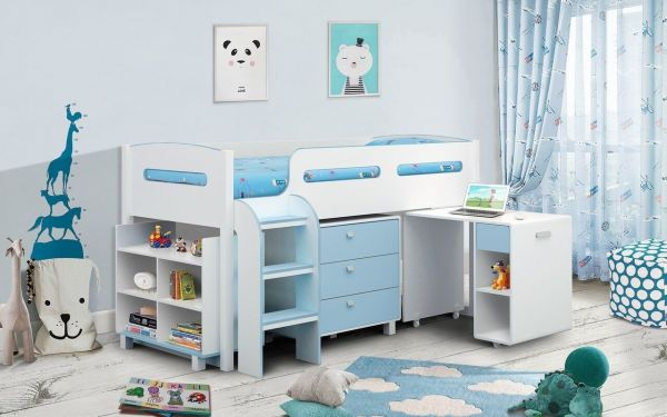 Julian Bowen Kimbo Cabin Bed - Pink or Blue