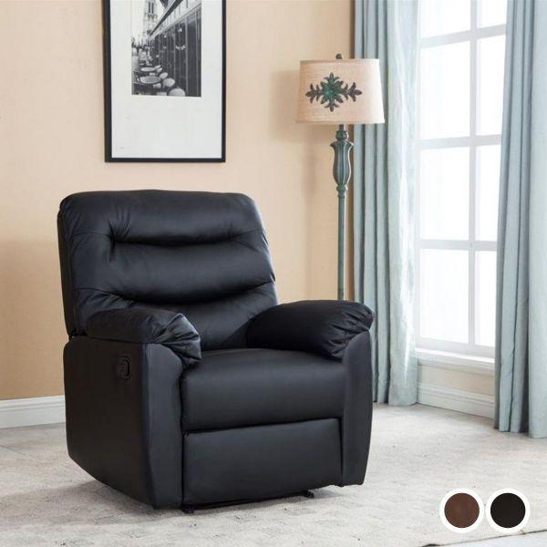 Birlea Regency Recliner Armchair - Black, Bronze