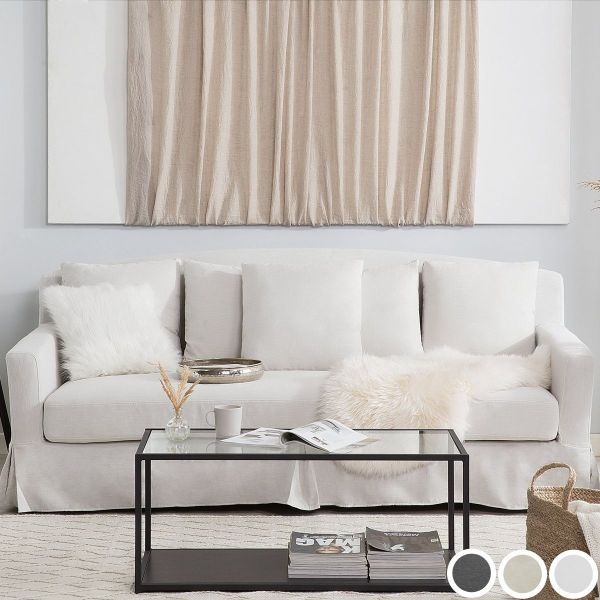 Gilda Fabric Sofa with 3 Seater  - White, Beige or Grey