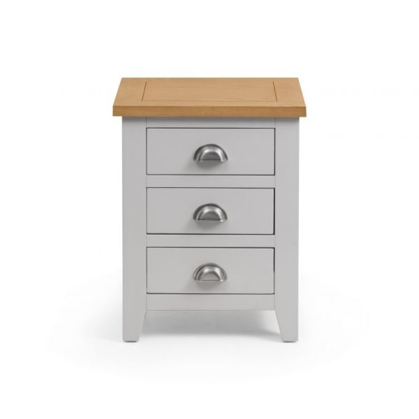 Julian Bowen Richmond 3-Drawer Bedside Table - Grey