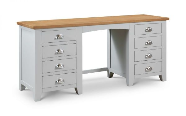 Julian Bowen Richmond 8-Drawer Dressing Table - Grey