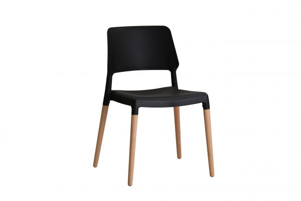LPD Riva Dining Chairs Pair - Black, White, Grey or Yellow