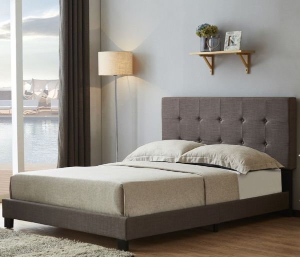 Birlea Rochelle Grey Fabric Bed - 4 Sizes