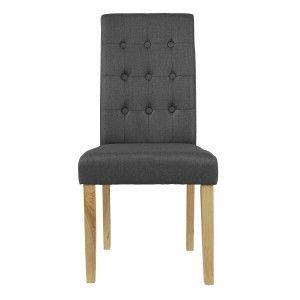LPD Roma Buttoned Linen Fabric Dining Chair - Beige, Plum, Grey or Green