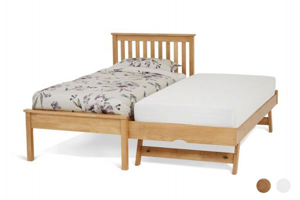 Heather Wood Guest Bed & Trundle - Oak or White