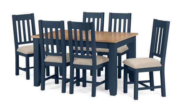 Julian Bowen Richmond Midnight Blue Dining Chair