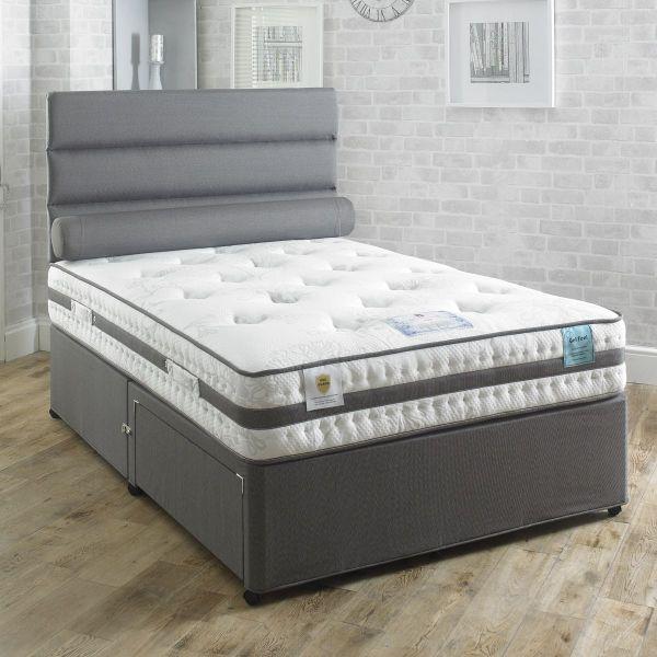 Vogue Aura Orthopaedic Gel Feel Foam Divan Bed 5FT King