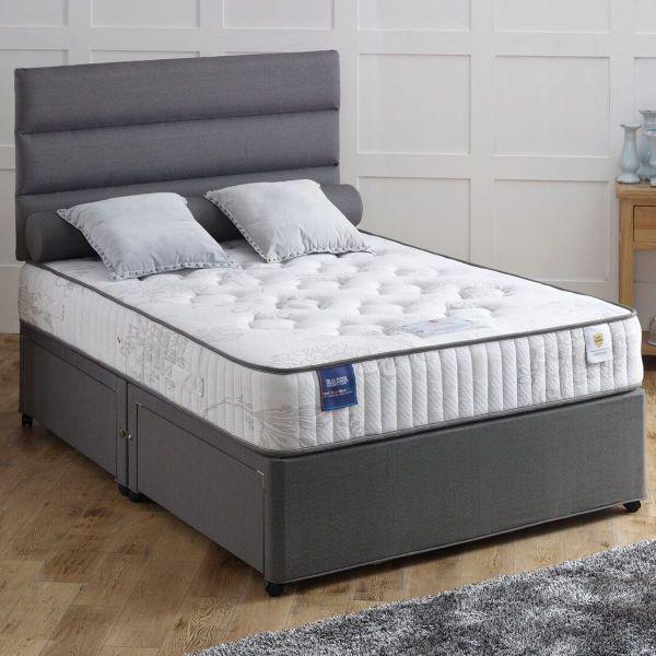 Vogue Memorypaedic Ottoman BluCool Memory Foam Divan Bed 5FT King