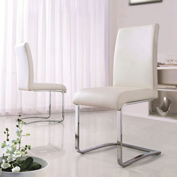 Set Of 4 Modern Dining Room Chairs - 3 Colours