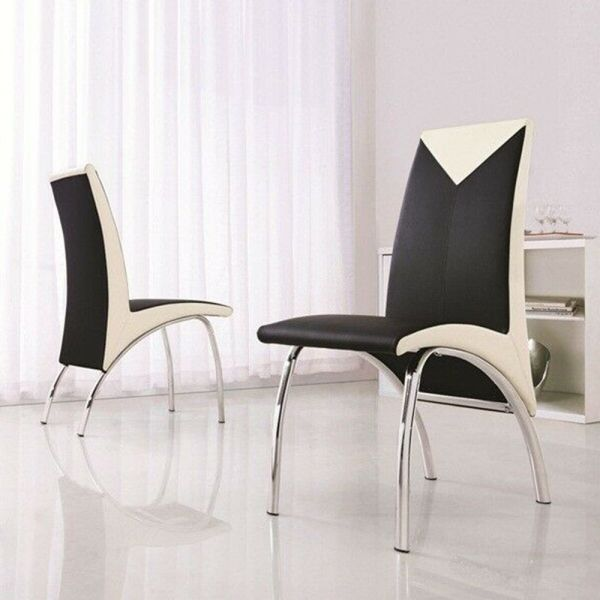 Modern Designer Set of 6 Dining Room Chairs - 3 Colours