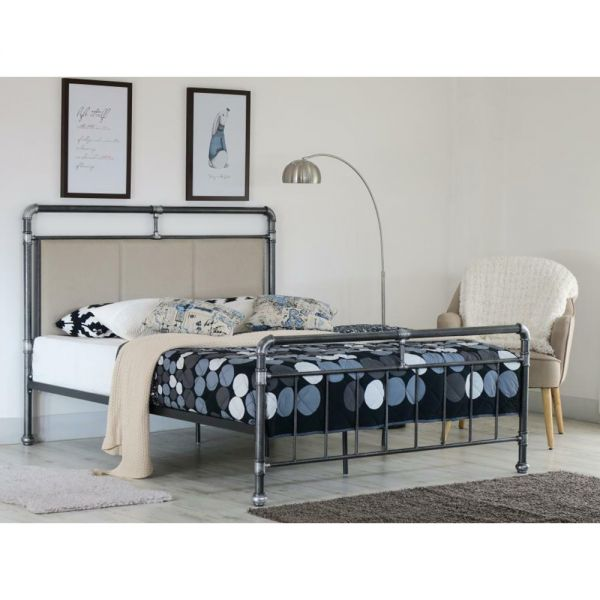 Industrial Scaffold Metal Pipe Bed Frame with Mattress Option