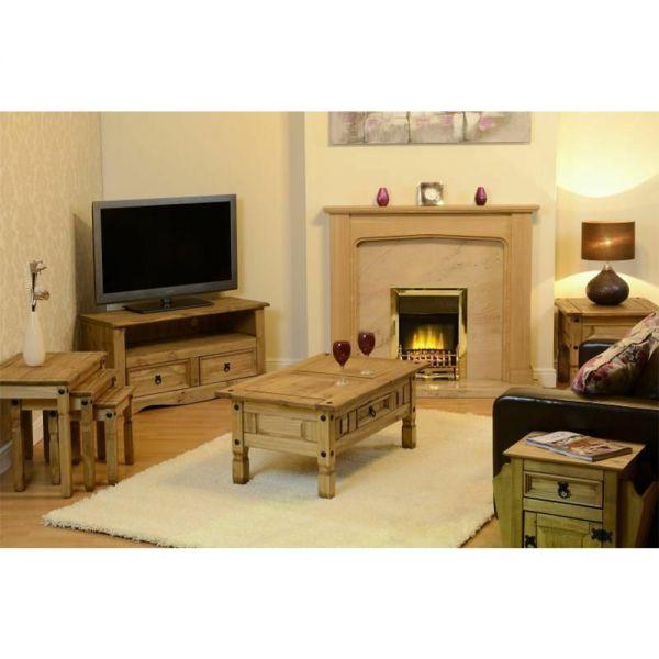 Corona Solid Wood Mexican Pine Living Room Set