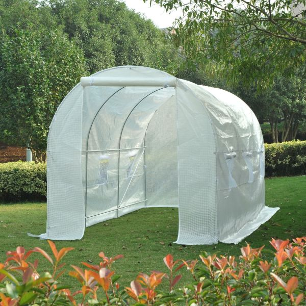Outsunny 4.5 x 2 x 2 cm Galvanized Steel Poly Tunnel