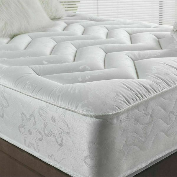 Deep Quilted Tufted Orthopaedic Sprung Foam Mattress - White