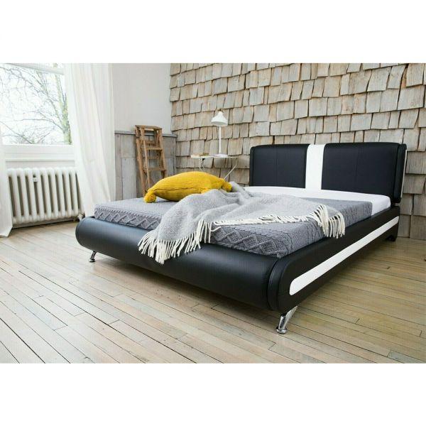 Modern Italian Designer Faux Leather Bed Frame