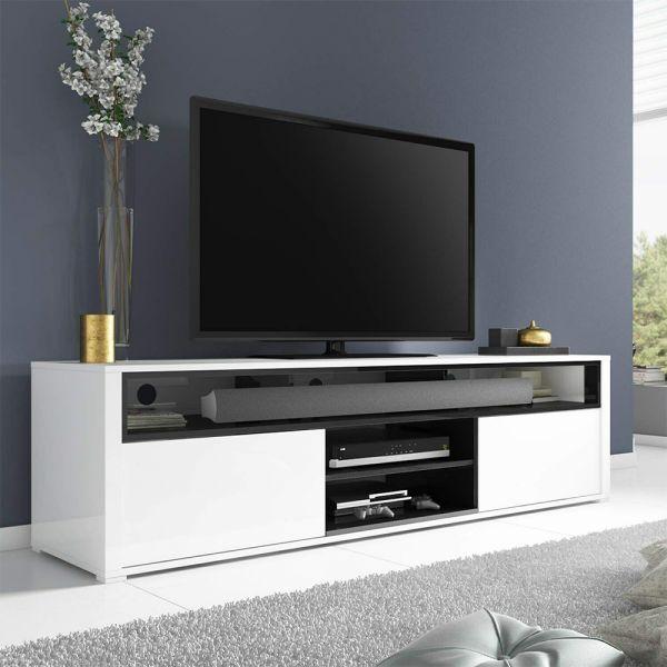 Neo Large High Gloss TV Unit - White & Grey