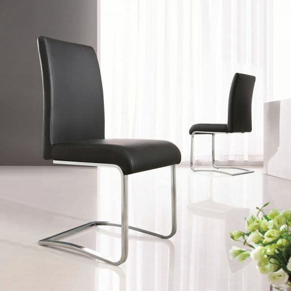 Modern Designer Set of 2 Dining Chairs - 3 Colours