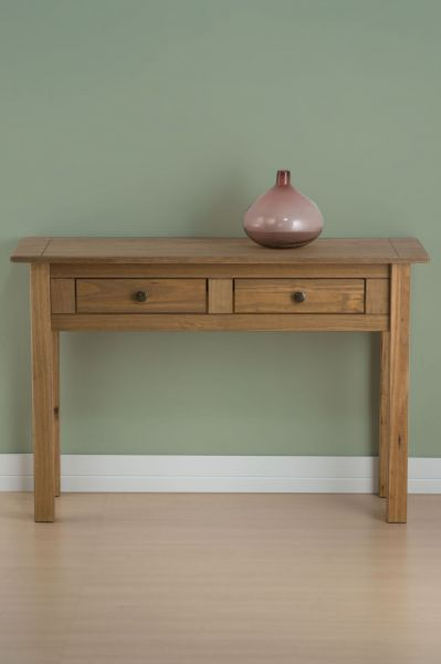 Birlea Santiago Distressed Pine 2 Drawer Console Table