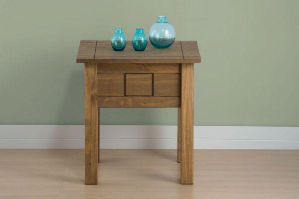 Birlea Santiago Distressed Pine Lamp Table