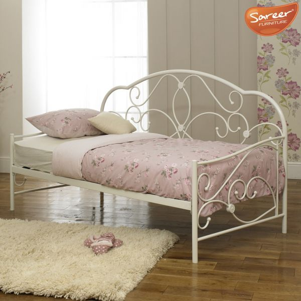 Sareer Alexis White Metal Single Day Bed
