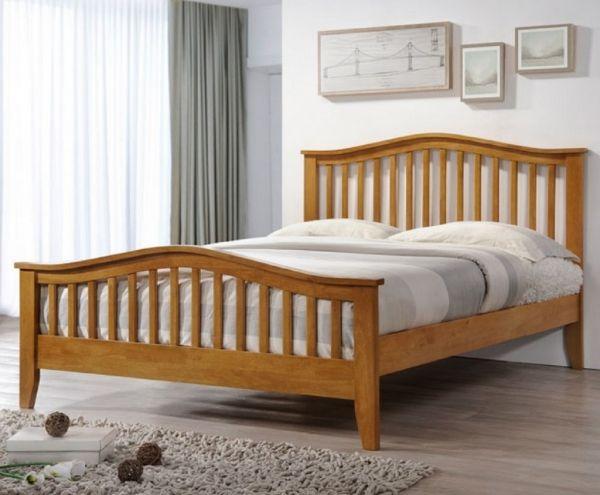 Sareer Sandringham Oak Wood Bed - Double or King