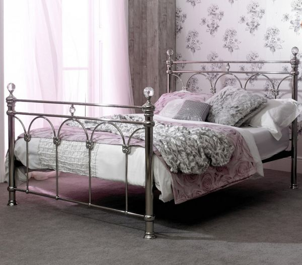 Sareer Sonita Chrome Metal Bed - Double or King