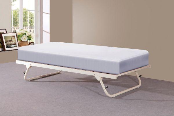 Sareer Fold Away Cream Metal Trundle Bed