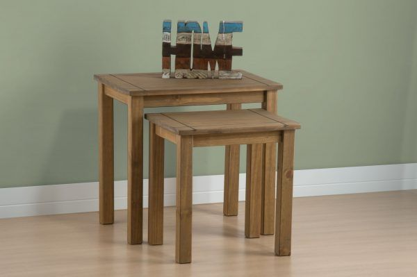 Birlea Santiago Distressed Pine 2PC Nest of Tables