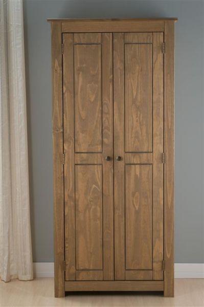 Birlea Santiago Distressed Pine 2 Door Wardrobe