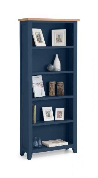 Julian Bowen Richmond Tall Bookcase - Midnight Blue