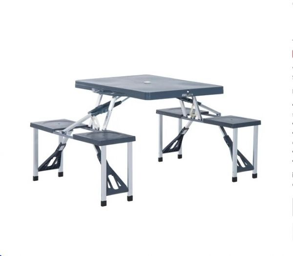 Outsunny Camping Table and Chair Set - 4 Seat