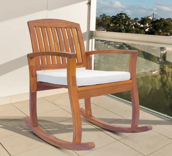 Outsunny Rocking Chair - Acacia Hardwood