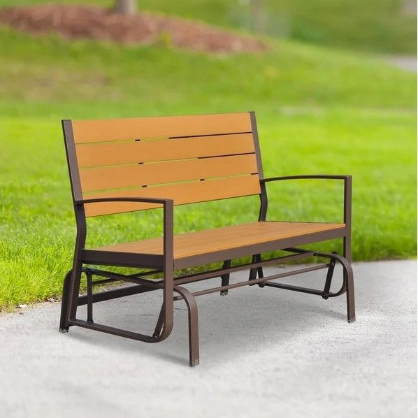 Outsunny 2-Seater Teak Wood Swing Chair