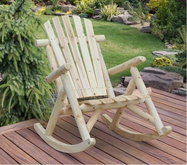 Outsunny Cedar Wood Rocking Armchair