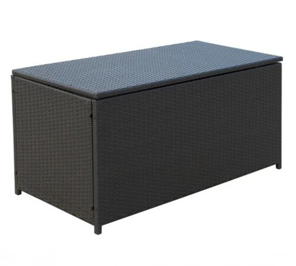 Outsunny Rattan Storage Box - Dark Brown