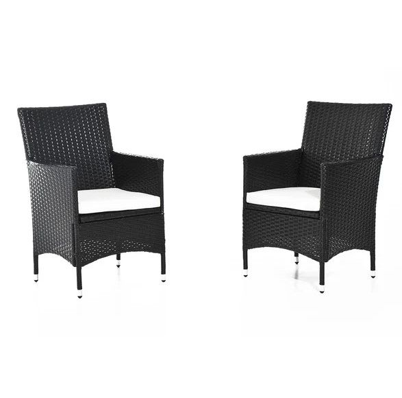 Outsunny Rattan Chairs Set - Dark Coffee