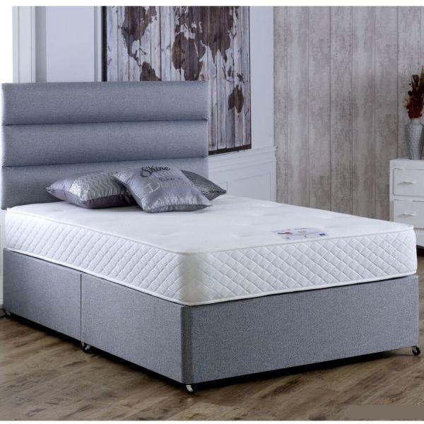 Vogue Deluxe 1000 Pocket Spring Divan Bed 6FT Super King