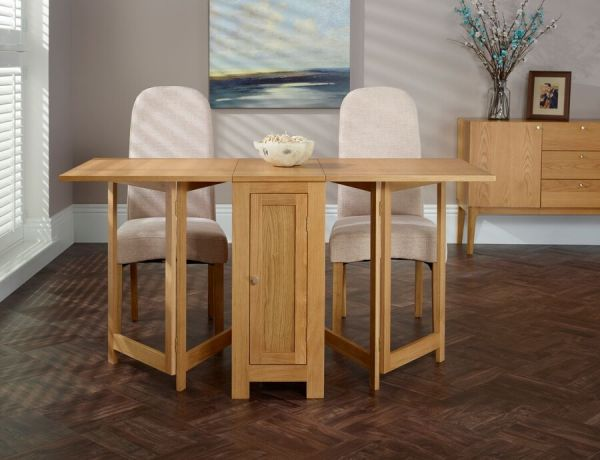 Hounslow Folding Oak Storage Dining Table