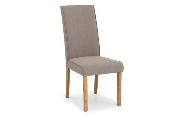 Julian Bowen Seville Taupe Linen Dining Chair
