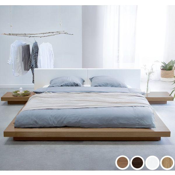 Zen Wooden Platform Bed - 4 Colours