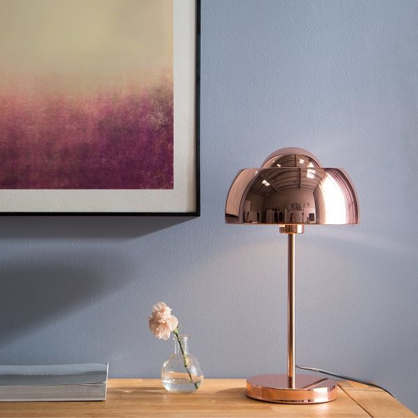 Seneta Metal Table Lamp - Copper, Silver or Black