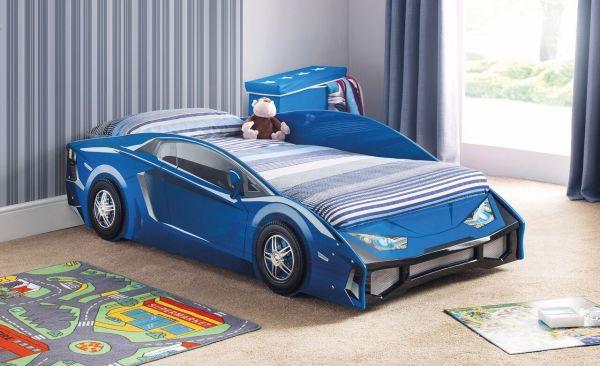 Julian Bowen Venom Blue Gloss Racer Bed