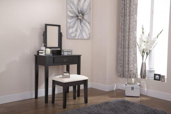 Shaker Dressing Table Set - Black, Grey or White